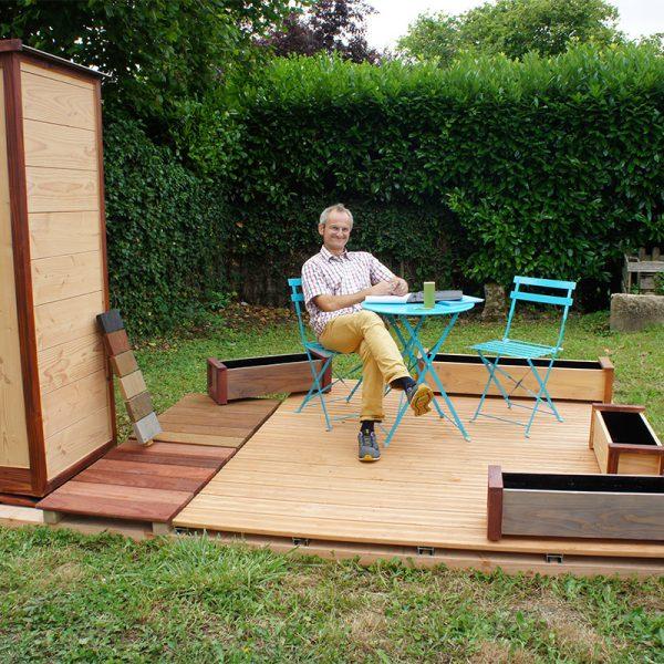 LE BOIS MON ABRI <br> Abri de jardin et terrasse<br>Rousseau Cyril
